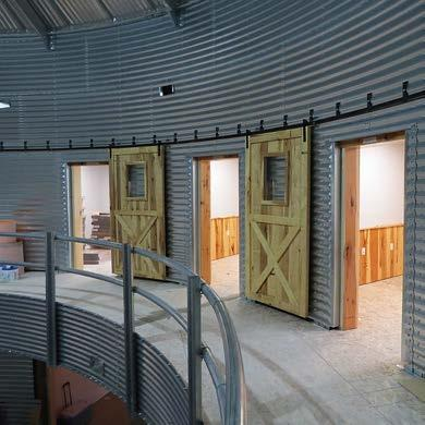 Grain Bin Themed Office Wabash Valley Service Company